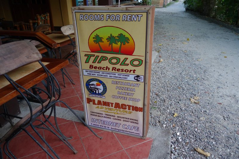 Sign in front of The Last Filling Station restaurant
